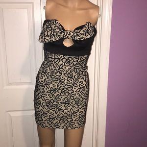 monaco Dresses - Monaco brown and black bow dress